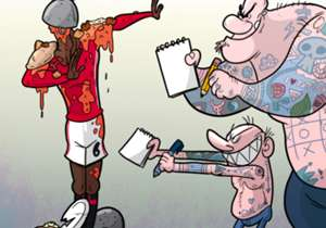 La mésaventure qui est arrivée à Paul Pogba dans un restaurant anglais - après avoir refusé de signer des autographes, des fans lui ont jeté des plats à la figure - a inspiré notre dessinateur Omar Momani.