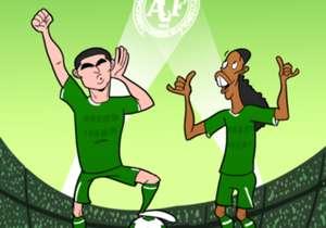 La rumeur dit que Riquelme et Ronaldinho auraient l'intention d'offrir leurs services à l'équipe brésilienne de Chapecoense, décimée par une catastrophe aérienne.