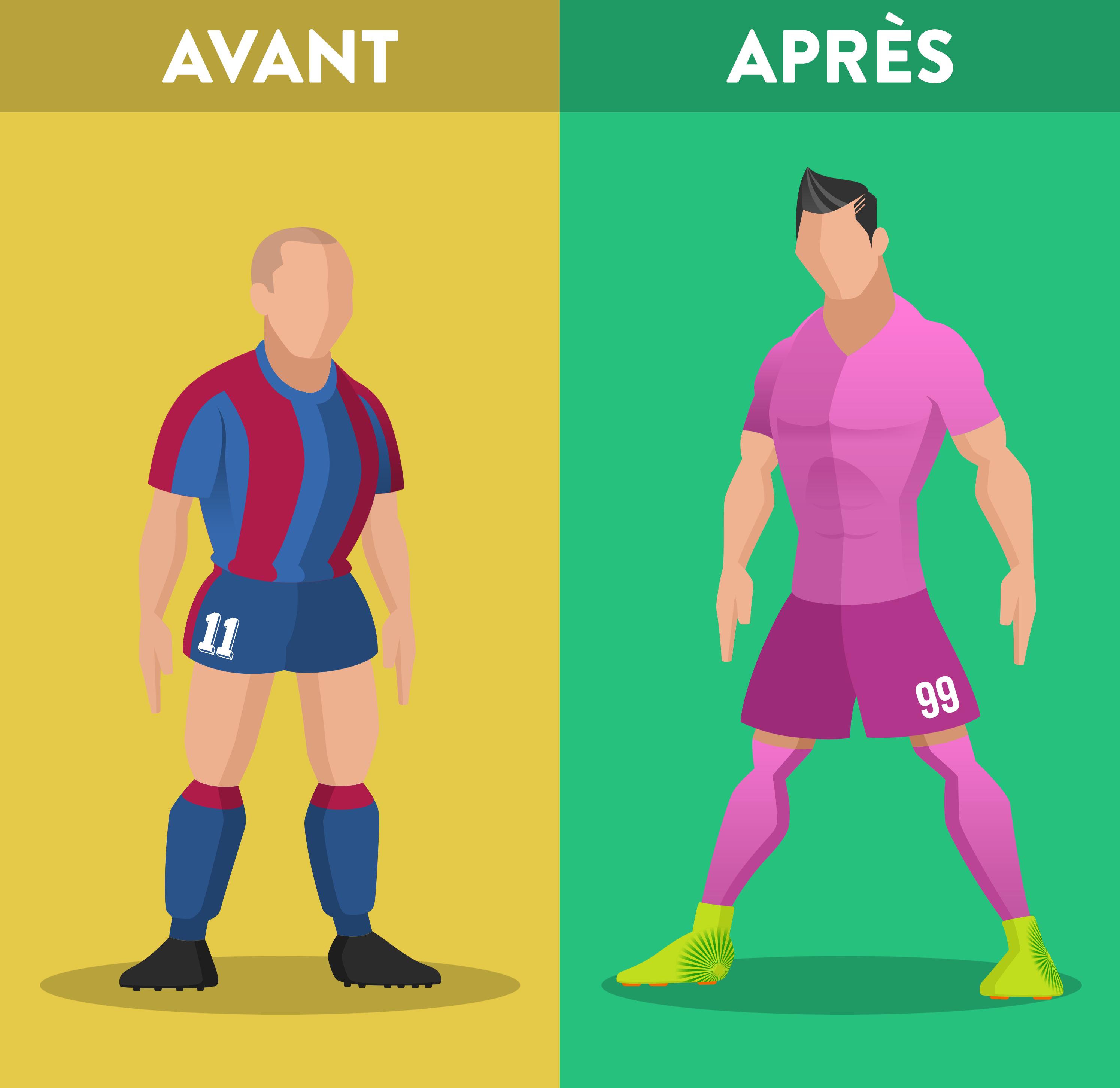 Le football d'hier vs le foot d'aujourd'hui, l'évolution