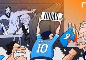 24 JUL | Diego Maradona, el primer hincha indignado por el pase de Higuaín de Napoli a Juventus.
