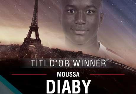 Titi d'Or - Moussa Diaby, le vainqueur 2016 :
