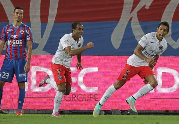 Caen 0-2 Paris Saint-Germain: Lucas & Marquinhos seal win for champions