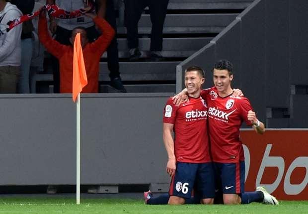 Jonathan Delaplace Marco Lopes Lille Lorient Ligue 1 08232014