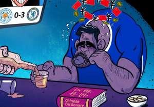 Chelsea marque sans Diego Costa, Antonio Conte jubile... et l'Espagnol, bloqué par son entraîneur, noie son malheur dans l'alcool en pensant à la Chine.