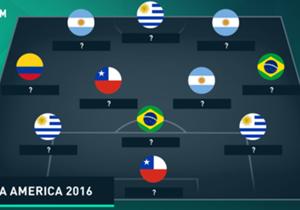 La rédaction de Goal se penche sur les meilleurs joueurs des continents européens et sud-américains avant les deux compétitions majeures de l'été. Alors, quel est le XI idéal des joueurs retenus pour disputer la Copa America ?