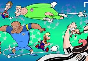 La Ligue des champions 2016-2017 s'annonce sous les meilleurs auspices et notre dessinateur a imaginé les futurs duels de la compétition reine.