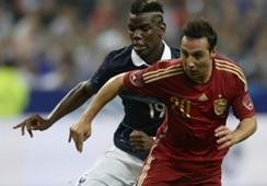 Paul Pogba Santi Cazorla France Spain Friendly 04092014