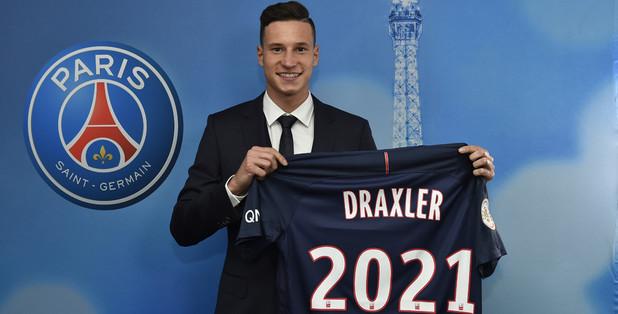 Le PSG officialise Draxler