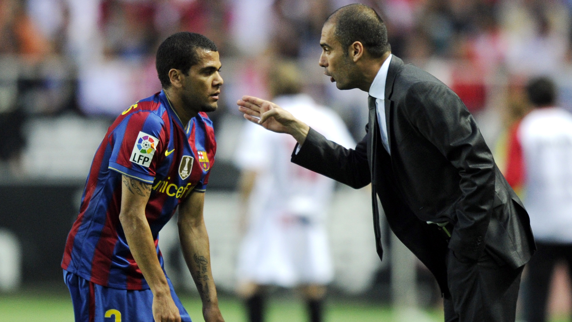 Dani Alves Pep Guardiola