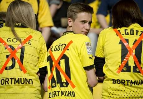 Les supporters anti-Götze à Dortmund