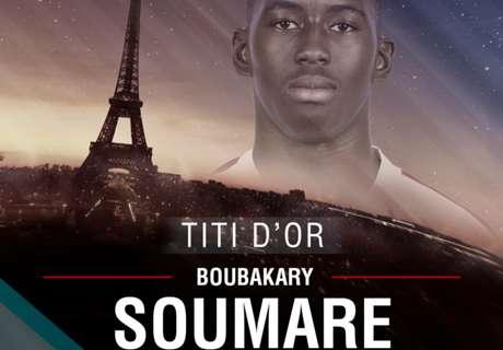 Titi d'Or - Boubakary Soumare est 4e en 2016 !