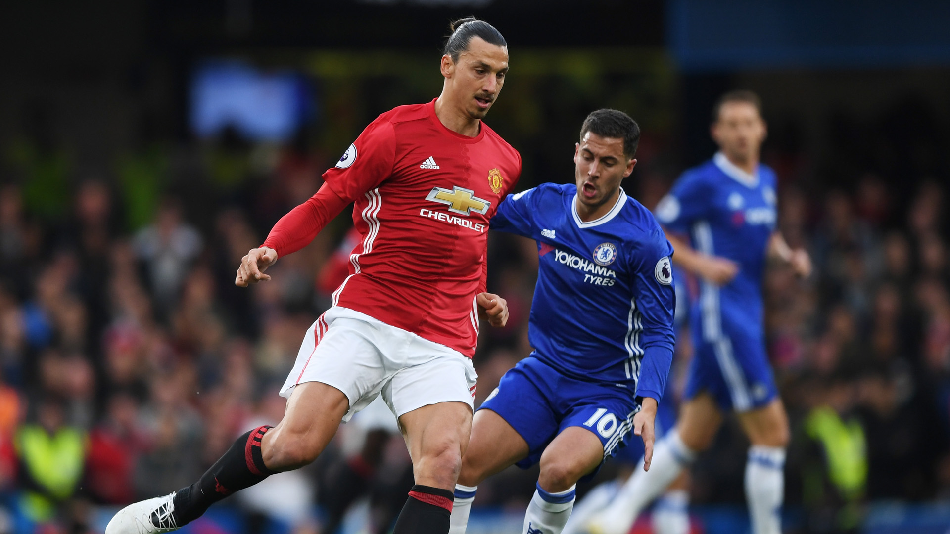 Ibrahimovic Hazard Manchester United Chelsea Premier League 2016