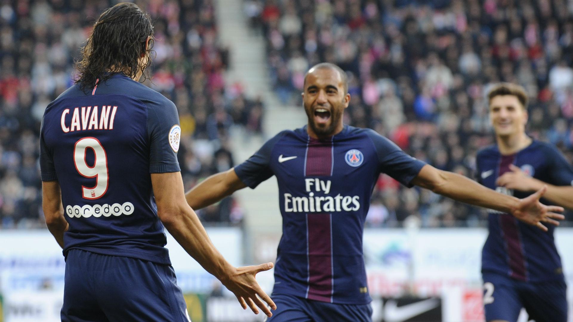 Lucas Moura Edinson Cavani Nancy Paris SG Ligue 1 15102016