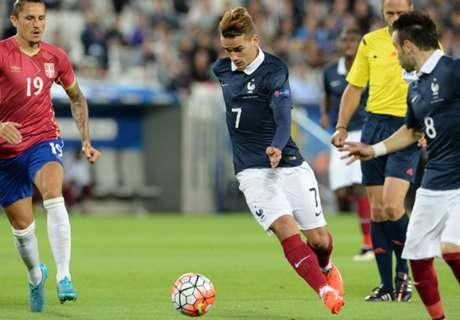 Amistoso: Francia 2-1 Serbia