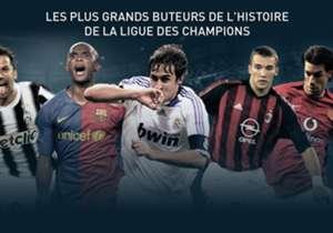Découvrez le classement des meilleurs buteurs de l'histoire de la Ligue des champions. Les buts inscrits lors des tours préliminaires ne sont pas comptabilisés.