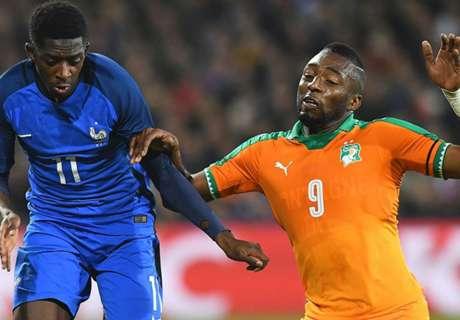 Frankrijk en Ivoorkust vervelen publiek