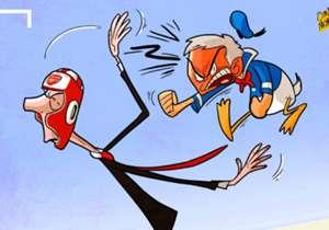 """""""Un jour, je le verrai hors du terrain et je lui exploserai la gueule"""" , aurait lancé le """"Special One"""" au sujet de l'entraîneur mythique d'Arsenal Arsène Wenger. Fight !"""