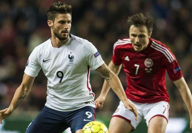 Denmark 1-2 France : les Bleus continuent sur leur lancée