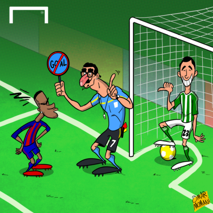 cartoon neymar barcelona betis