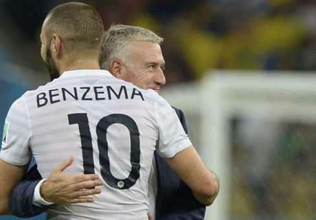 Deschamps: Si llevo a Benzema, será solo como titular