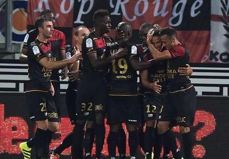 Guingamp et Nice prennent les commandes, Lille et Rennes piétinent