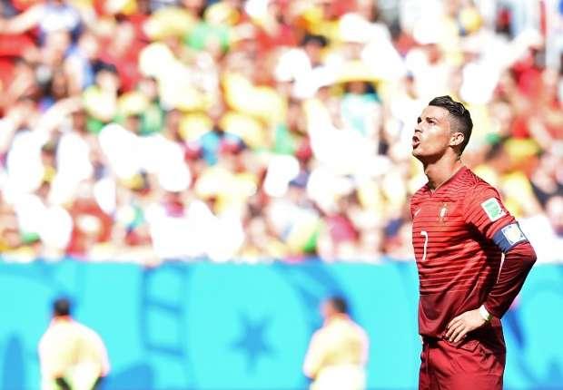 Cristiano Ronaldo reacts Ghana Portugal 26062014