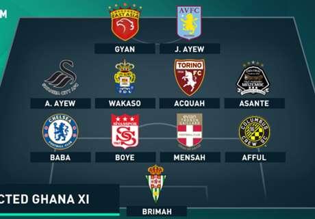 Predicted Ghana XI v Comoros