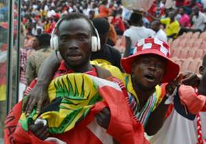 Kotoko fans jubilating: Of course there is reason for jubilation for Kotoko fans, although it was shortlived as they saw their slim lead evaporate in second half