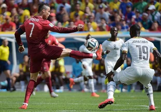 Cristiano Ronaldo feierte gegen Ghana seine WM-Tor-Premiere