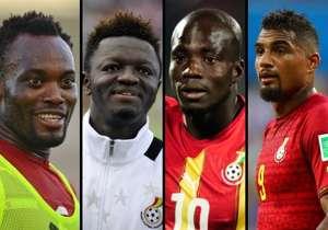 Essien, Muntari, Appiah and Boateng