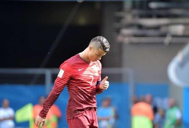 Cristiano Ronaldo celebrates calmly Ghana Portugal 26062014