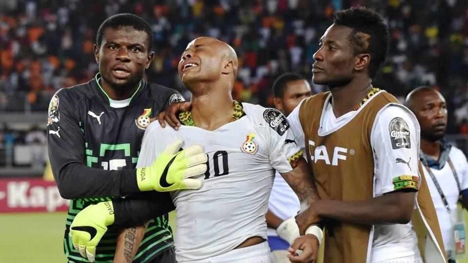 Fatau Dauda, Asamoah Gyan & Andre Ayew