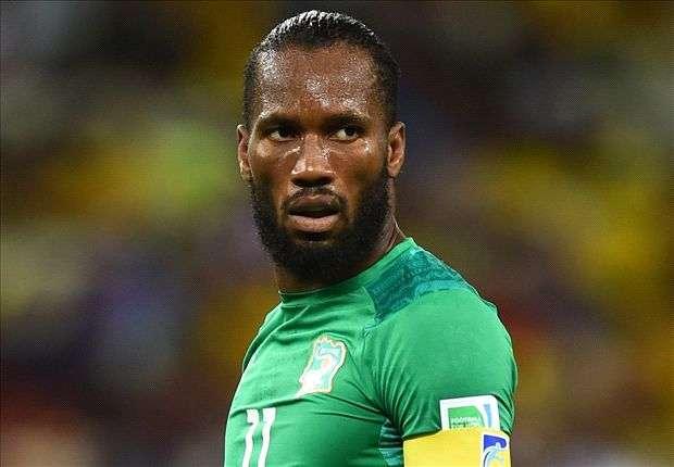 Drogba als Kapitän der Elfenbeinküste in Brasilien