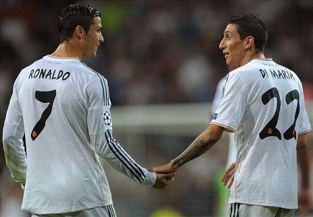 Di María y Cristiano Ronaldo