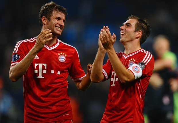 Durften in der letzten Saison des öfteren jubeln: Die Bayern-Akteure Thomas Müller und Philipp Lahm