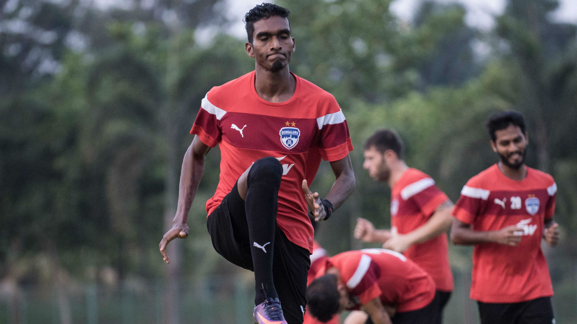 Lenny Rodrigues Bengaluru FC training session