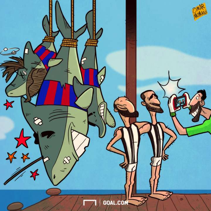 Cartoon Juve the sharks hunters
