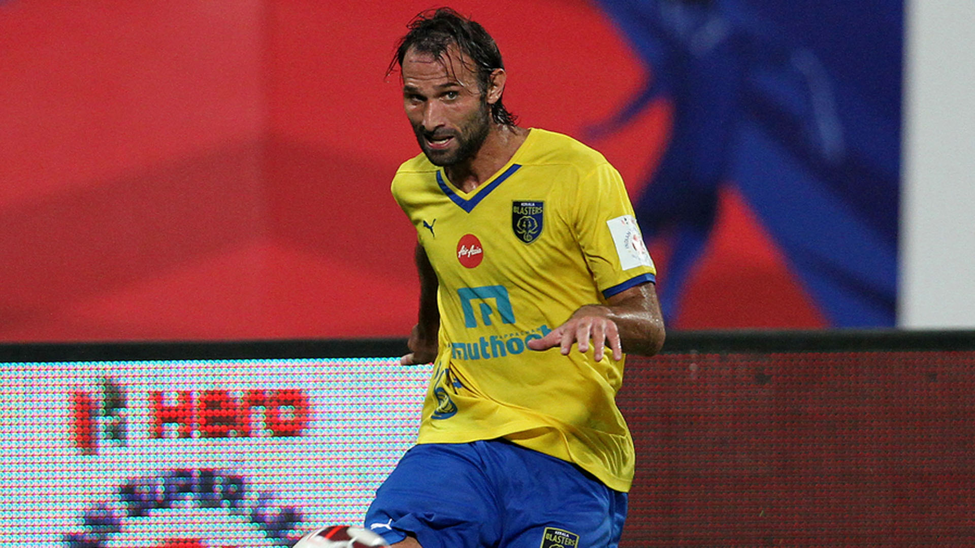 Cedric Hengbart of Kerala Blasters FC in action during ISL match ...