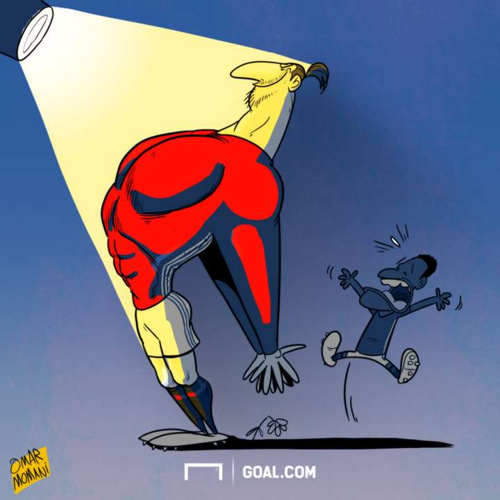 Cartoon Ibrahimovic steals the light from Rashford
