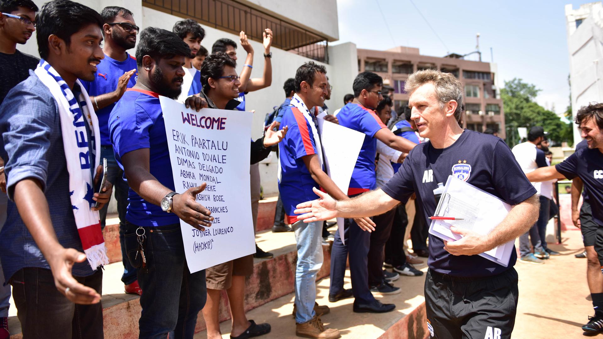 Albert Roca Meets Bengaluru FC supporters