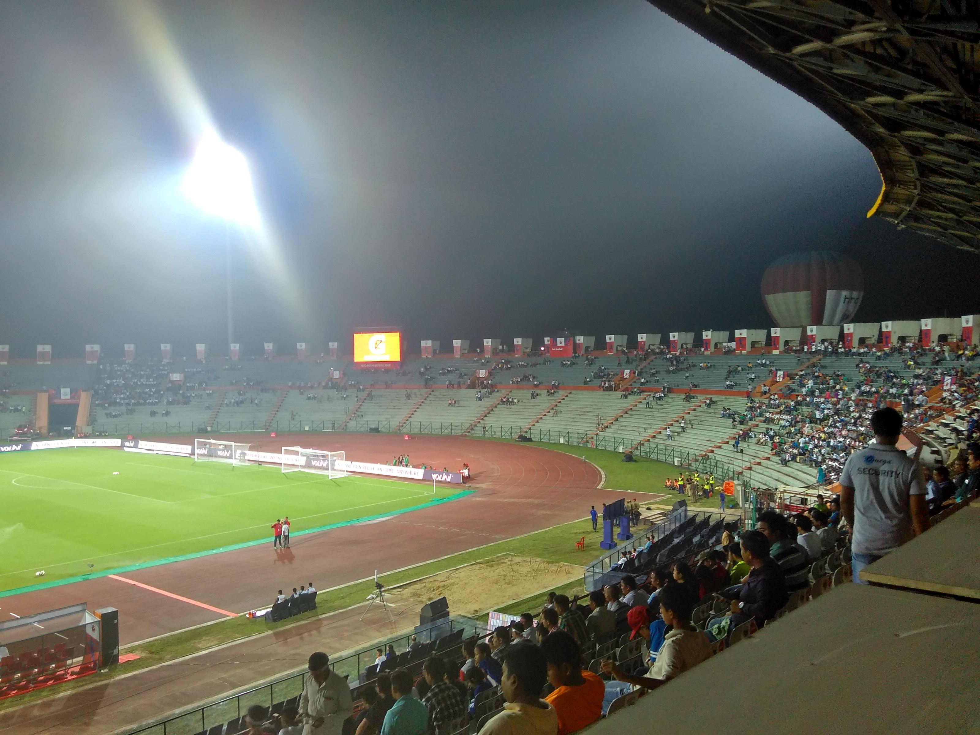 IG Stadium Guwahati during an ISL match