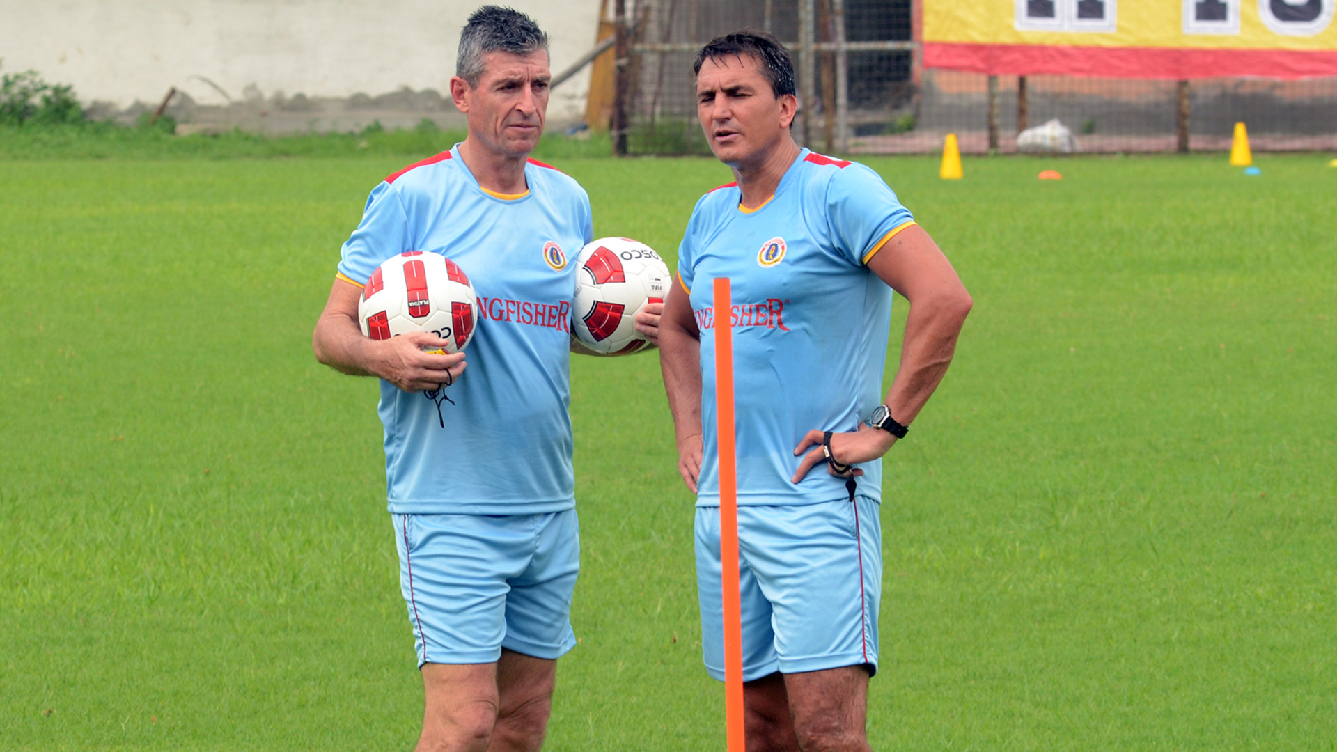 Trevor Morgan East Bengal FC Pre-Season practice session
