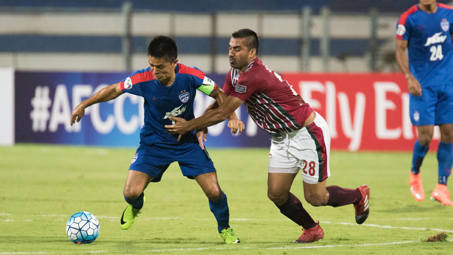 Sunil Chhetri Sehnaj Singh Bengaluru FC Mohun Bagan AFC Cup 2017