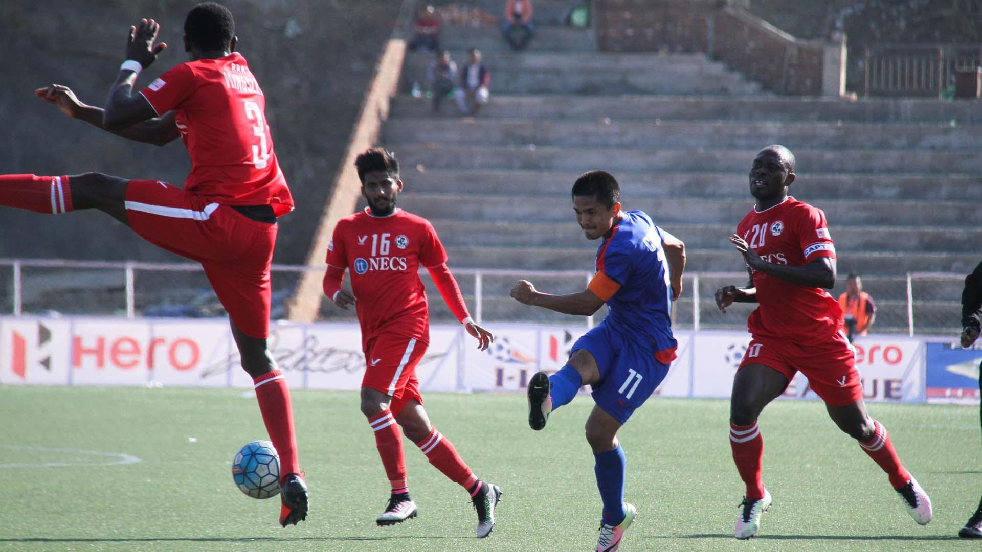 Sunil Chhetri Aizawl FC Bengaluru FC I-League 2017