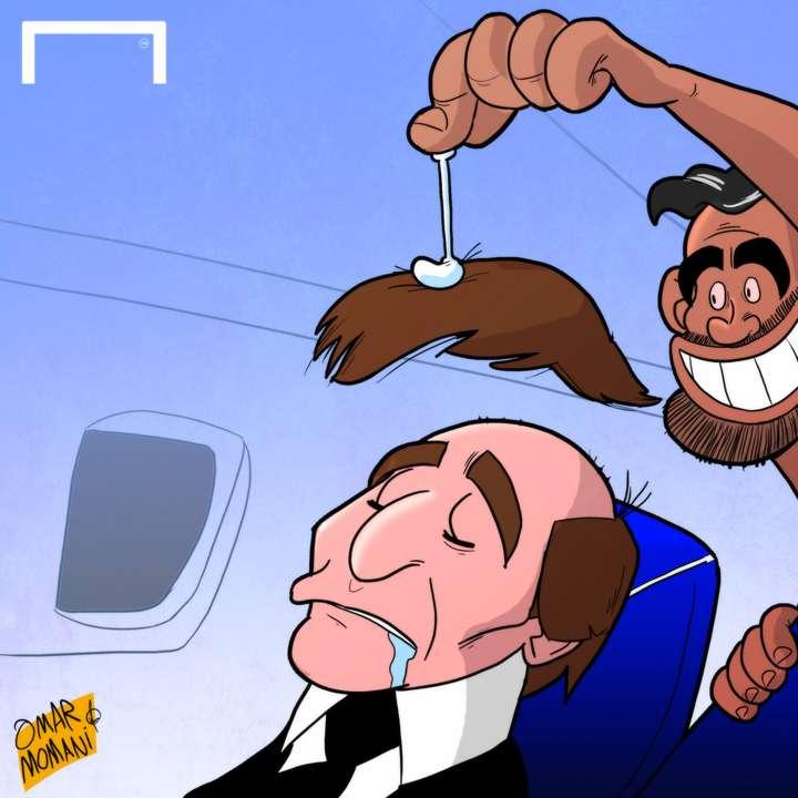 Cartoon Diego Costa's prank on Conte
