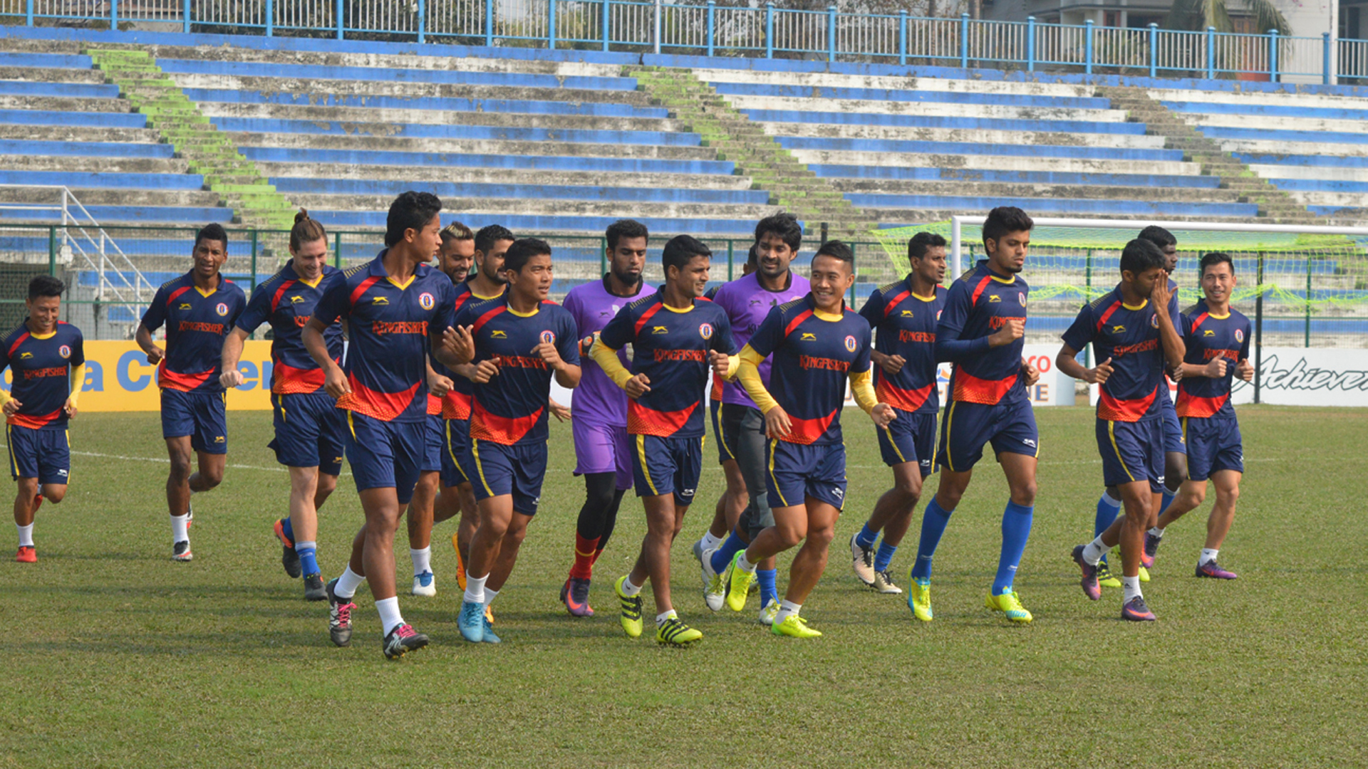 East Bengal FC practice session