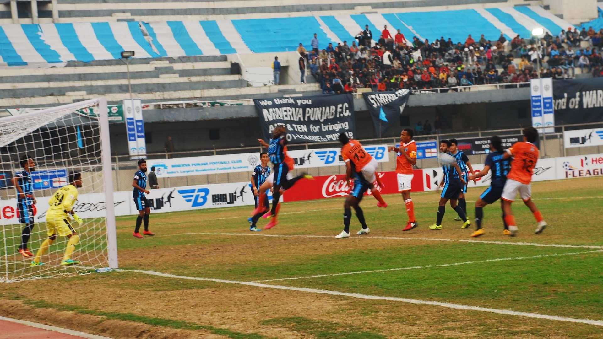 Minerva Punjab FC Mumbai FC I-League 2017