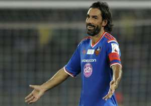 Robert Pires of FC Goa reacts during ISL match