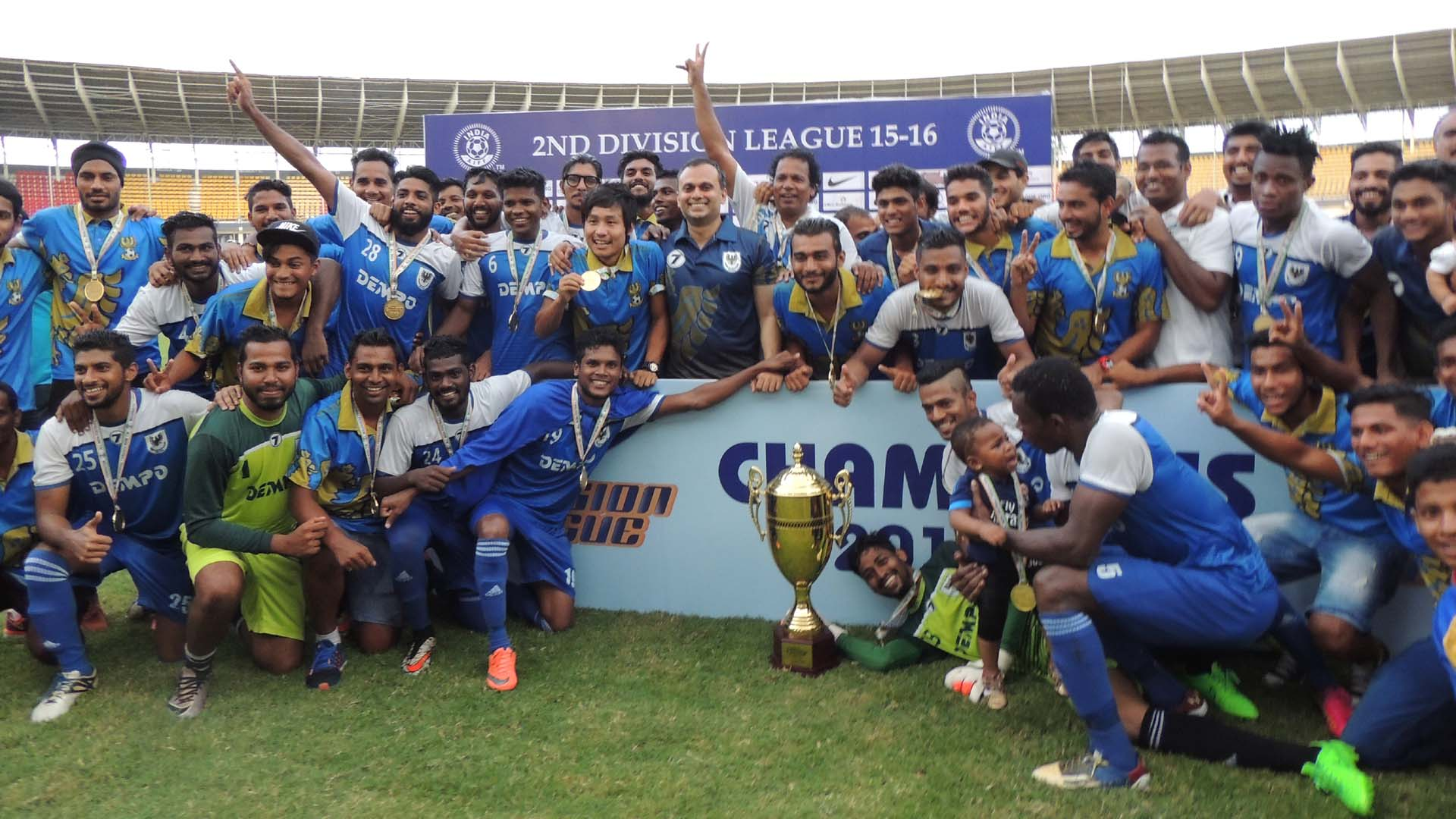 Dempo SC I-league 2nd division Champions 2016
