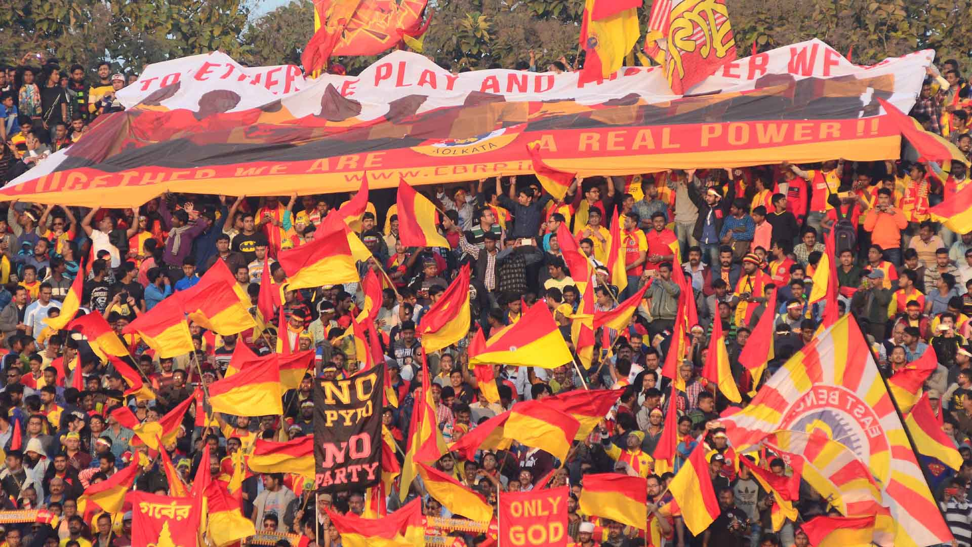 East Bengal FC I-League supporters